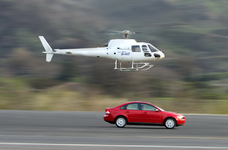 Volvo S40 T5 with optional helicopter escort