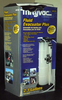 The Mityvac 7201 Fluid Evacuator Plus as it arrived at my office.