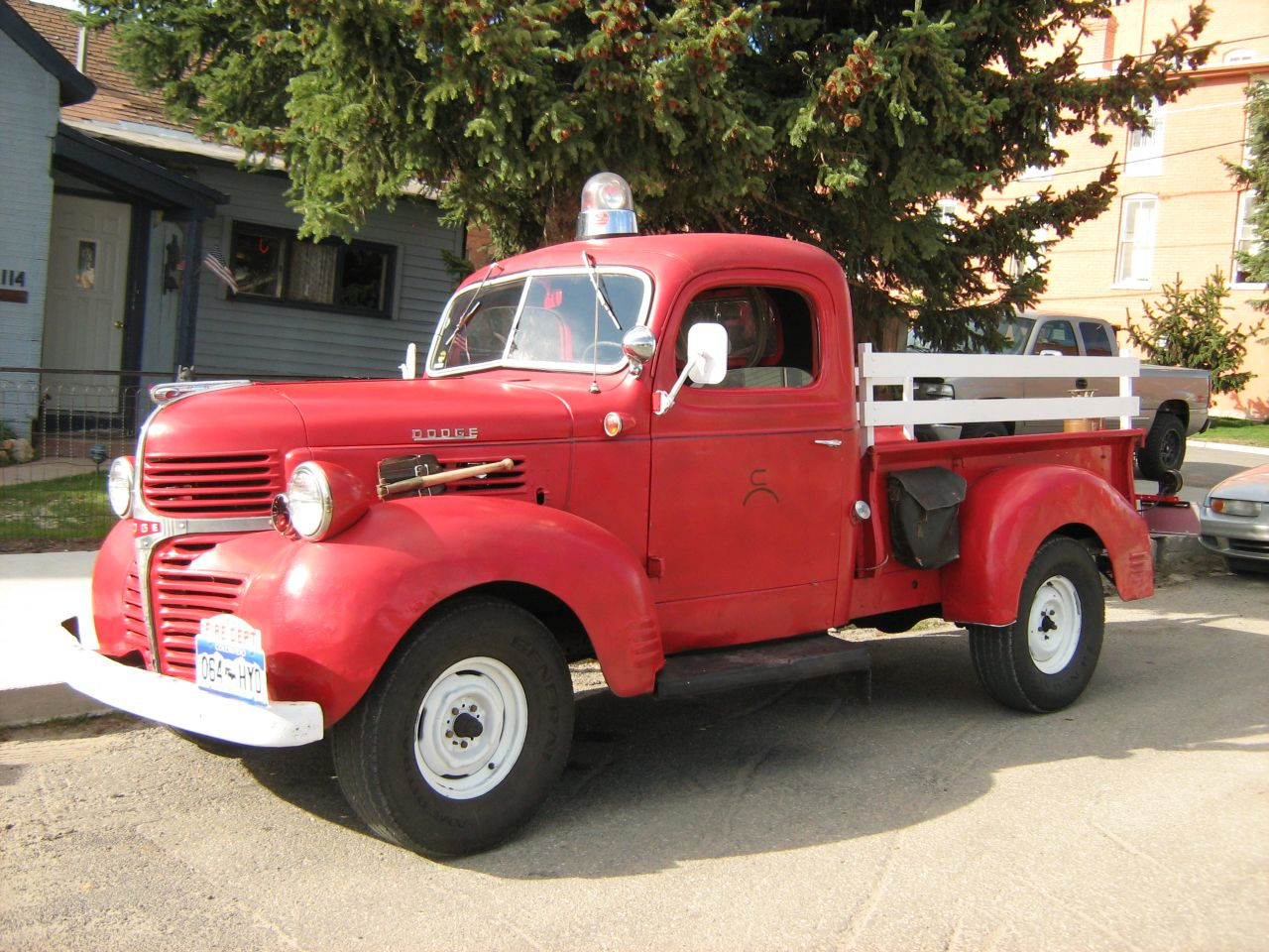 Down On The Two Mile High Street 1947 Dodge Fire Truck