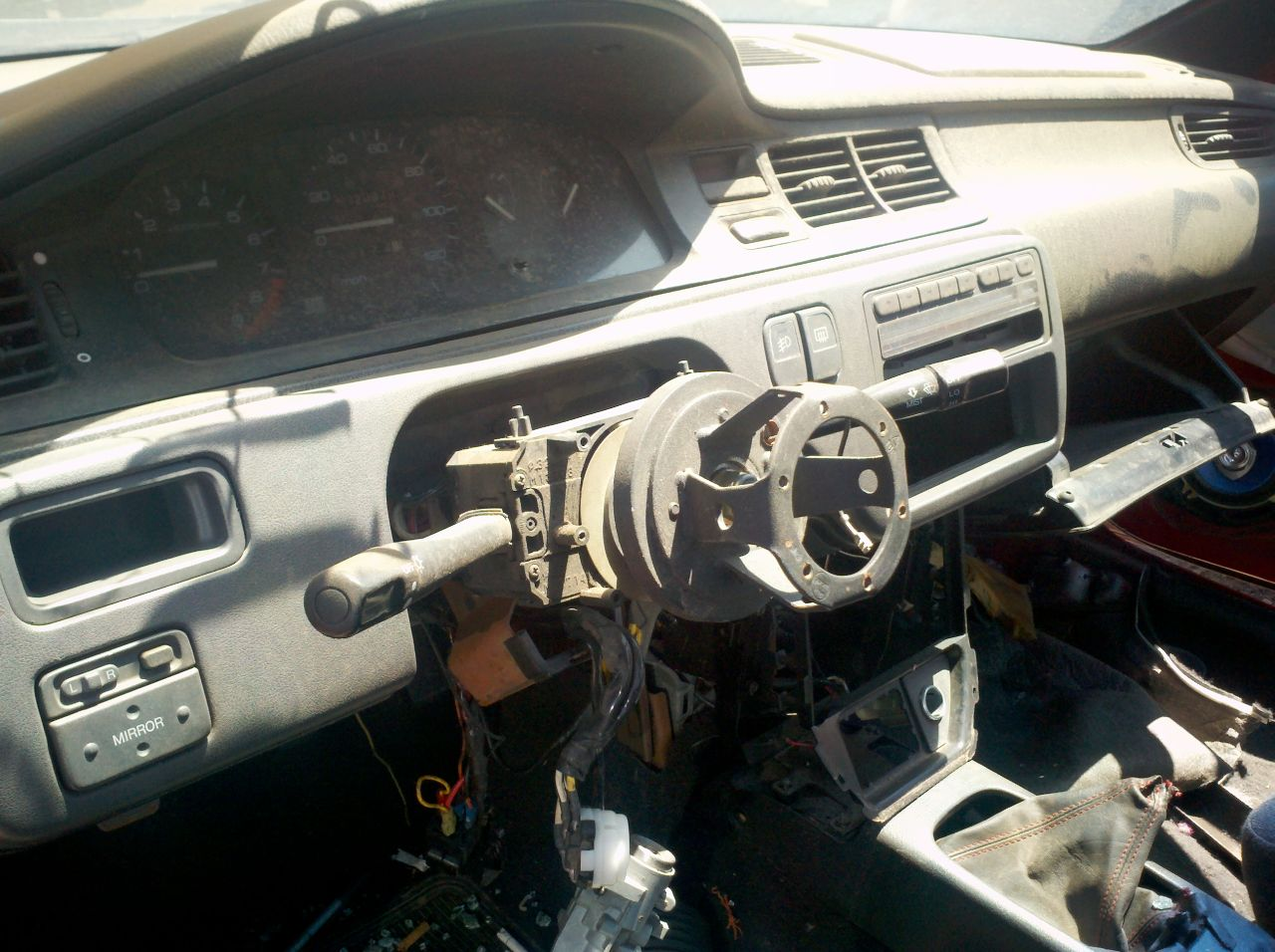 Would Be Civic Thief Thwarted By Hidden Kill Switch 21 In Junkyard 1992 Honda Steering Column Diagram All Fixed Im Sure Glad The Didnt Have A Tow Truck