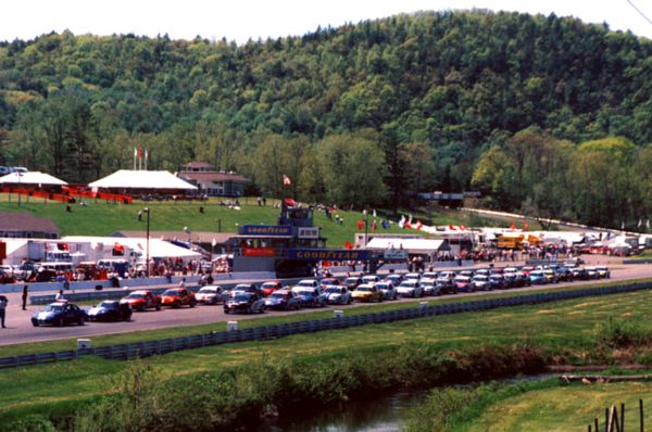 The start of a Lime Rock race,