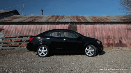 2012 Chevy Sonic LTZ Turbo Exterior, side, Picture courtesy of Alex L. Dykes