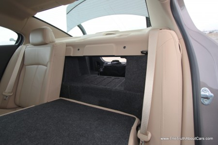 2012 Buick LaCrosse eAssist, Interior, rear seat folded, Picture Courtesy of Alex L. Dykes