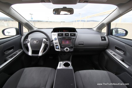 2012 Toyota Prius v, Interior, dashboard, Photography courtesy of Alex L. Dykes