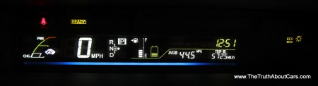 2012 Toyota Prius v, Interior, gauges, Photography courtesy of Alex L. Dykes