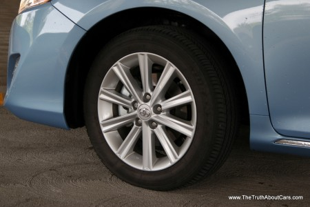 2012 Toyota Camry Hybrid, Exterior, wheel, Photography Courtesy of Alex L. Dykes