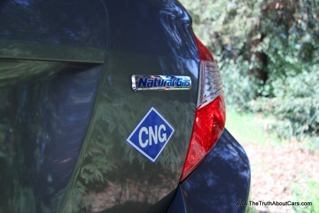 2012 Honda Civic Natural Gas (Civic GX), CNG logo, Photography Courtesty of Alex L. Dykes