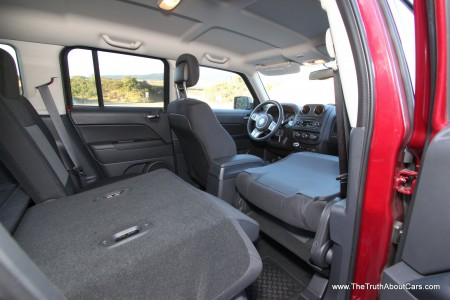 2012 Jeep Patriot Latitude, Interior, cargo area, seats folded, Photography by Alex L. Dykes