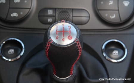 2012 Fiat 500 Abarth, Interior, shifter, Photography courtesy of  Alex L. Dykes