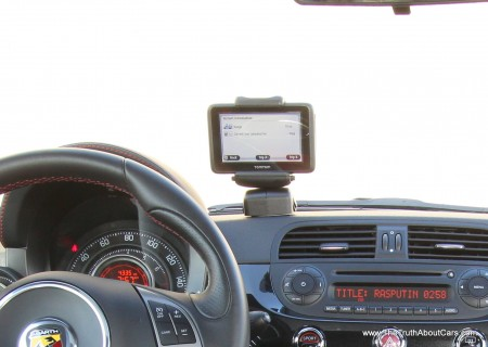 2012 Fiat 500 Abarth TomTom Nav unit, photography courtesy of Alex L. Dykes