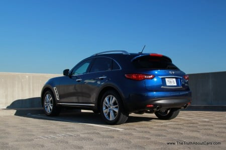 2013 Infiniti FX37, Exterior, Rear 3/4, Picture Courtesy of Alex L. Dykes