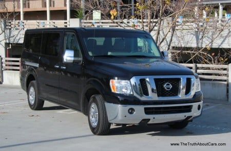 2013 Nissan NV 3500 Passenger Van, Exterior, 3/4 view, Picture Courtesy of Alex L. Dykes