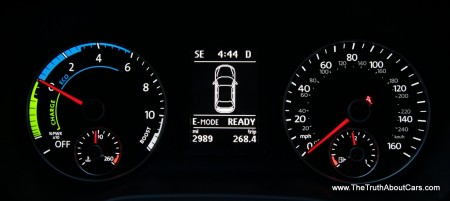 2013 Volkswagen Jetta Hybrid, Interior, gauges, Picture Courtesy of Alex L. Dykes