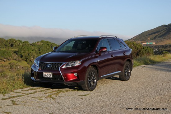 2013 Lexus RX 350 F-Sport, Exterior, Front 3/4, Picture Courtesy of Alex L. Dykes