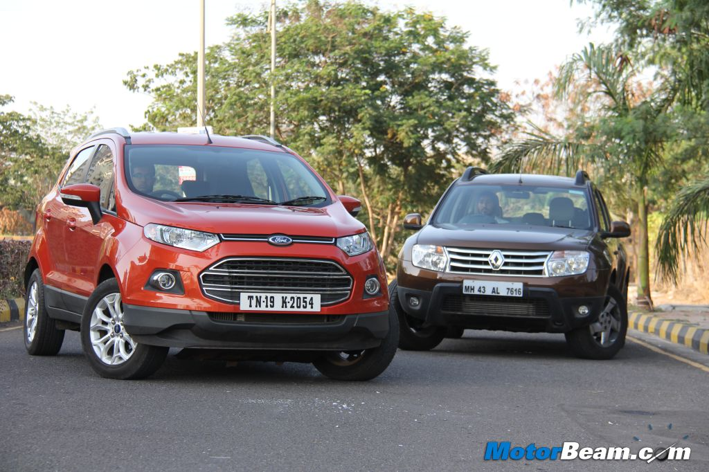 ford shocks renault with ecosport price in india. Black Bedroom Furniture Sets. Home Design Ideas