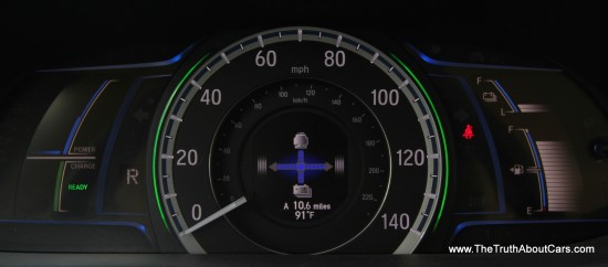 2014 Honda Accord Hybrid Gauges, Picture Courtesy of Alex L. Dykes