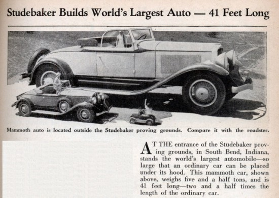 Big Studebaker courtesy modernmechanix.com
