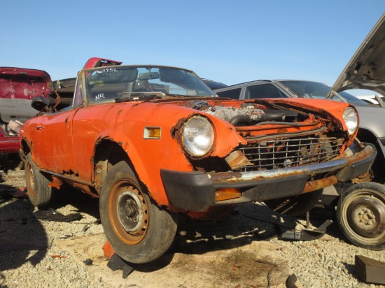 13 -1975 Fiat 124 Spider Down On the Junkyard - Picture courtesy of Murilee Martin