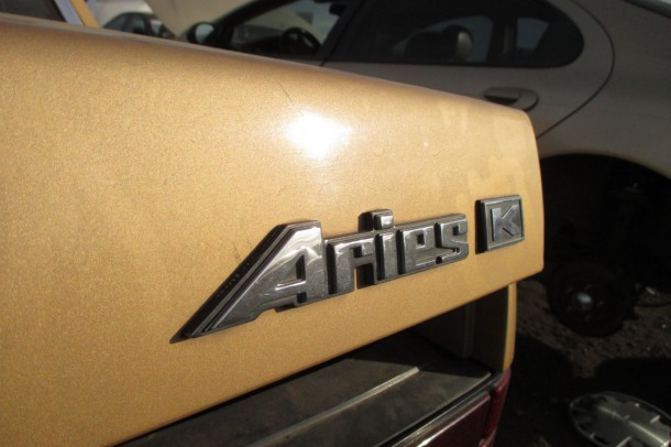 12 - 1986 Dodge Aries Down on the Junkyard - Picture Courtesy of Murilee Martin
