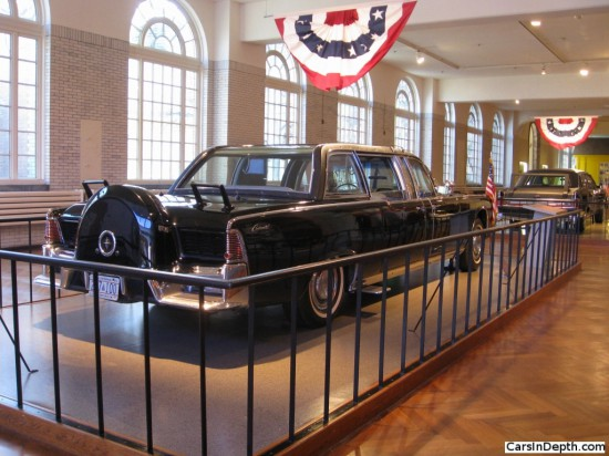 The limousine used by President Kennedy in Dallas, rebuilt for use by LBJ