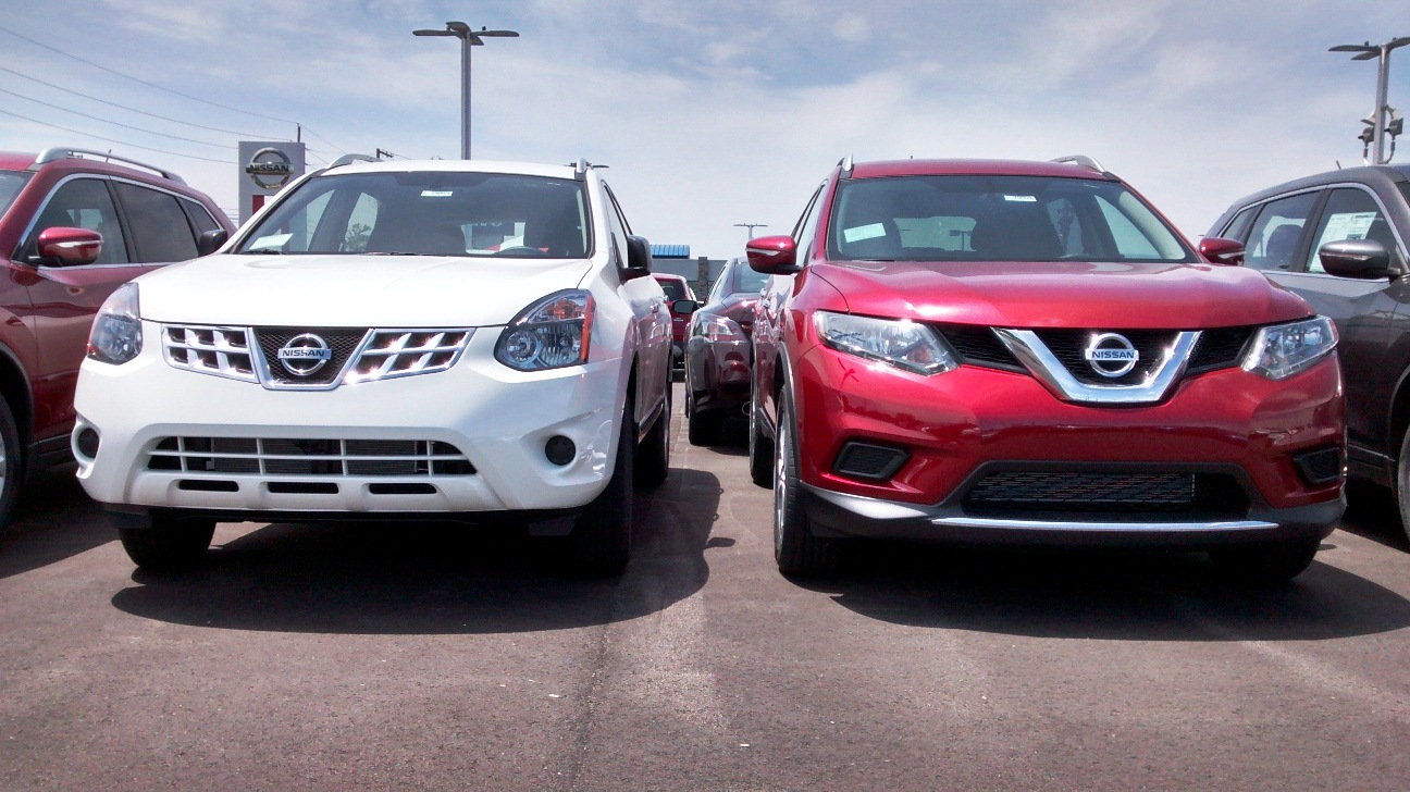 facelift rogue vs image gallery quarters three nissan rear