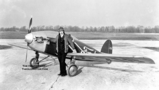 Harry J. Brooks, Ford test pilot, one of two people who flew the Flivver. Brooks died when his prototype Flivver crashed into the ocean due to fuel starvation.