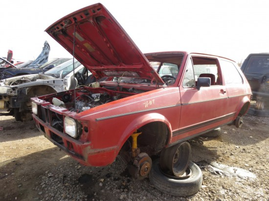 02 - 1984 Volkswagen Rabbit Down On the Junkyard - Picture courtesy of Murilee Martin