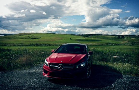 2014 Mercedes-Benz CLA250 4Matic red front