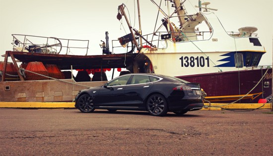2013 Tesla Model S P85 Fishing boat