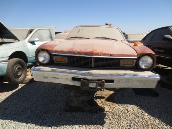 07 - 1977 Ford Maverick Sedan Down On the Junkyard - Picture By Murilee Martin