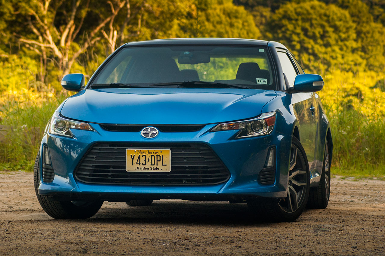2017 Scion Tc From Front Blue Streak