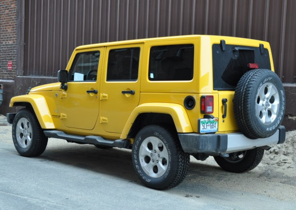 2015 Jeep Wrangler Unlimited Sahara rear side yellow