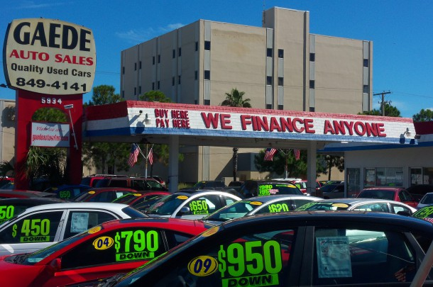 Buy Here Pay Here Subprime Financing Extravaganza Circa September 2014