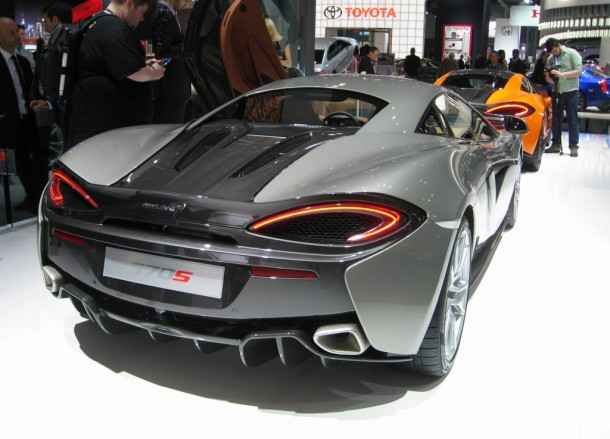 The 570S from the rear