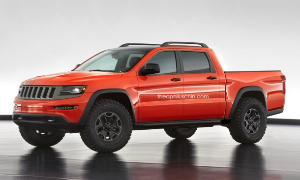 Jeep Trailhawk Truck Render