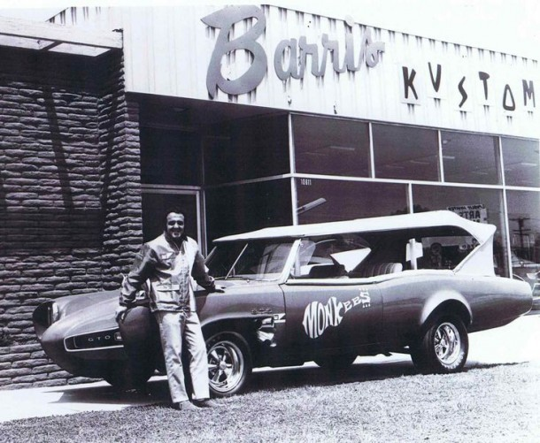 George Barris with Monkeemobile #2 (or one of the two replicas he had made)