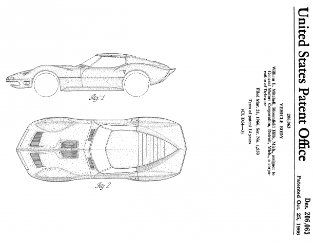 One of Bill Mitchell's Corvette concepts, perhaps the Mako Shark.