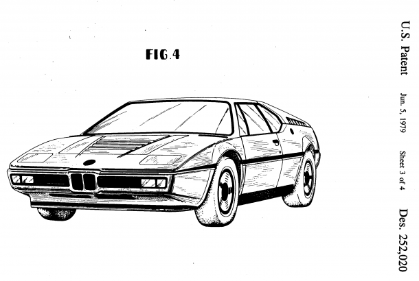 JB's editors at R&T might think that Paul Bracq designed the BMW M1, but it's Giugiaro's name on the design patent. Bracq did the BMW Turbo, on which the M1 was based.