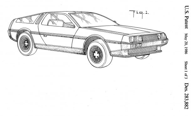Giorgietto Giugiaro's DeLorean DMC12, an update of an earlier design of his.