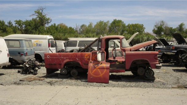 14 - 1960 Dodge Pickup in California junkyard - photo by Murilee Martin