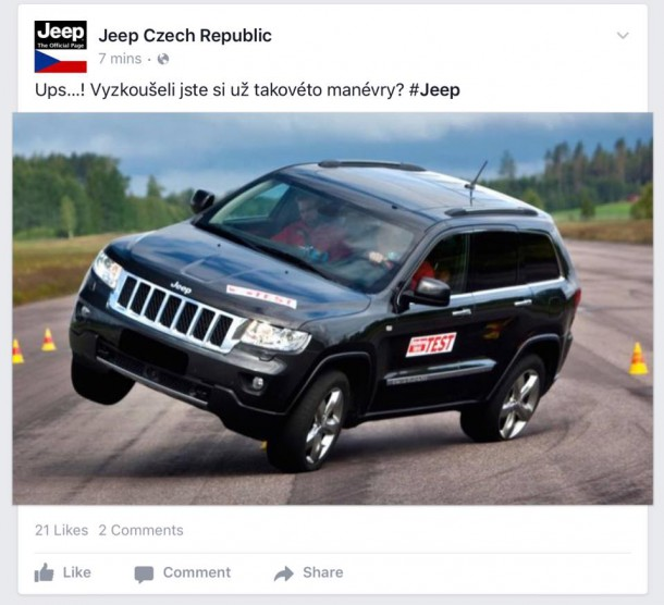 Jeep Czech Republic Moose Test Photo
