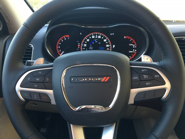 2016 Dodge Durango Steering Wheel, Image: © 2016 Bark M./The Truth About Cars