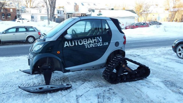 Smart car snowmobile Image: Autobahn Tuning Inc./Facebook)