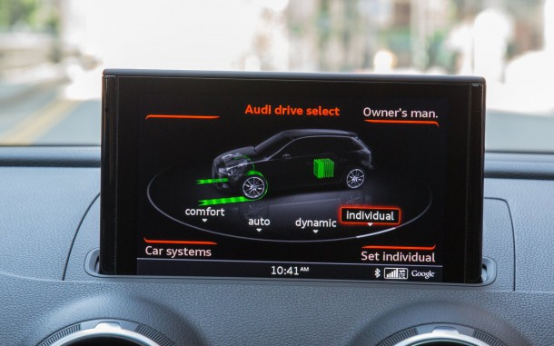 2016 Audi A3 Sportback E-tron Infotainment Display, Image: © 2016 Alex L. Dykes/The Truth About Cars