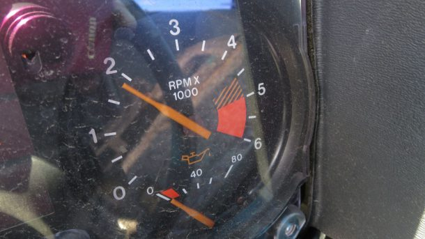 1986 Pontiac Fiero in California Junkyard, tachometer - ©2016 Murilee Martin - The Truth About Cars