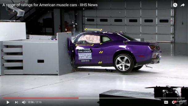 Dodge Challenger Nets Worst Score in Muscle Car Crash Tests