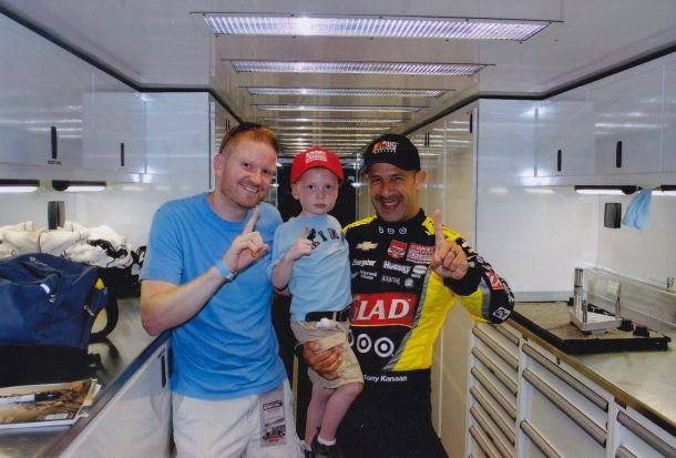 These are pictures of my son at his first IndyCar race where he got to meet Tony Kanaan.