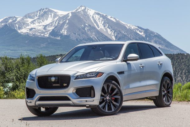 Front three-quarter view of 2017 Jaguar F-PACE in Aspen, Colorado, Image: © 2016 Mark Stevenson/The Truth About Cars