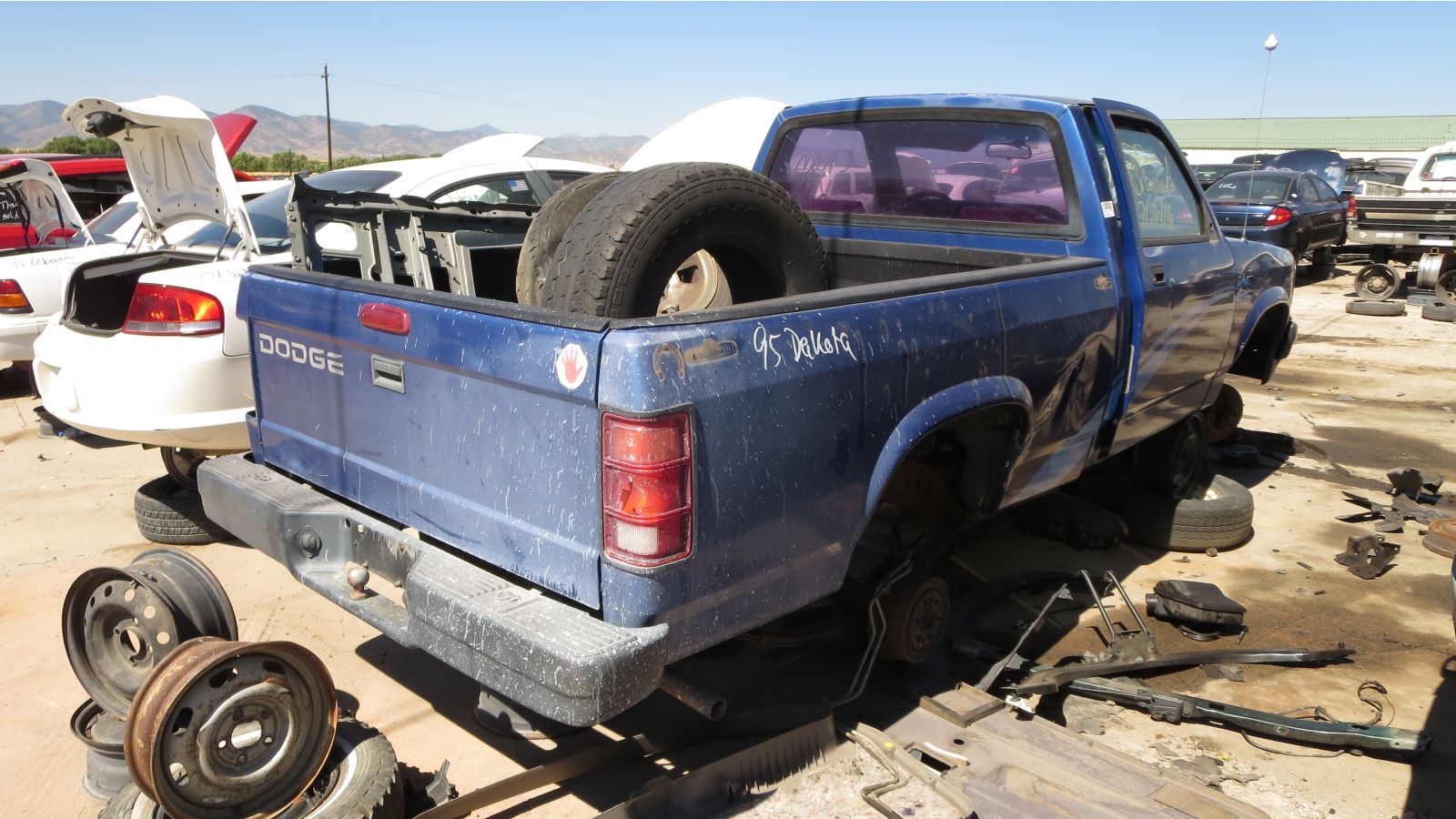 Junkyard Find 1995 Dodge Dakota With K Car Engine The Truth 0 Custom Fit Vehicle Wiring Tow Ready In Colorado Rh Rear View 2016 Murilee Martin