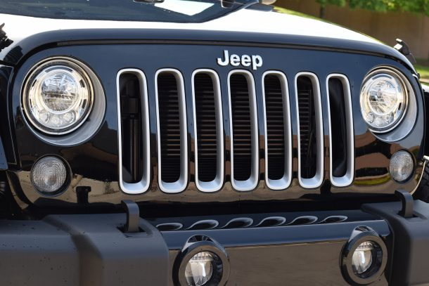 2017 Jeep Wrangler boasts LED headlamps.
